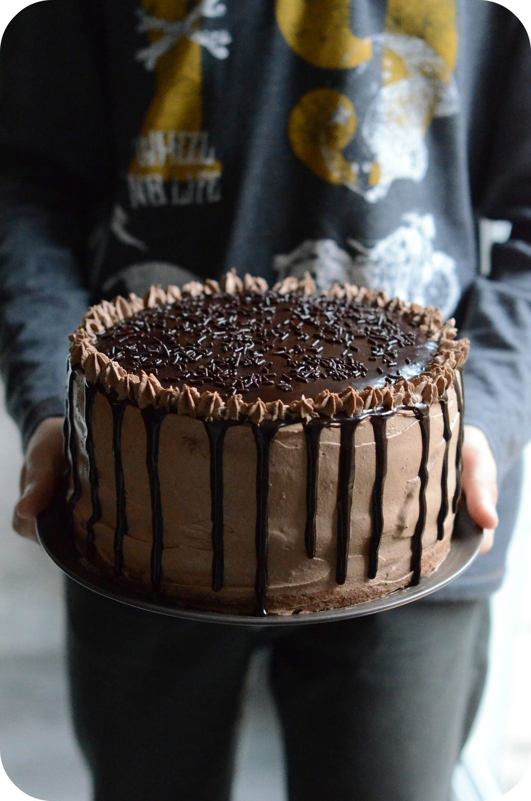 Naked Cake Au Chocolat Et Framboises Gateau Anniversaire Cake