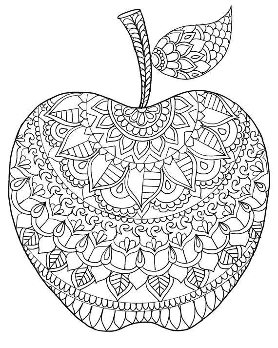 Descargar página para colorear de manzana, volver a la página para ...