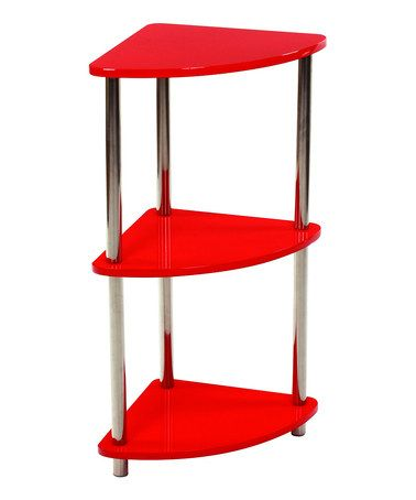 Take A Look At This Red Three Tier Corner Shelf By Home Basics On Zulily Today