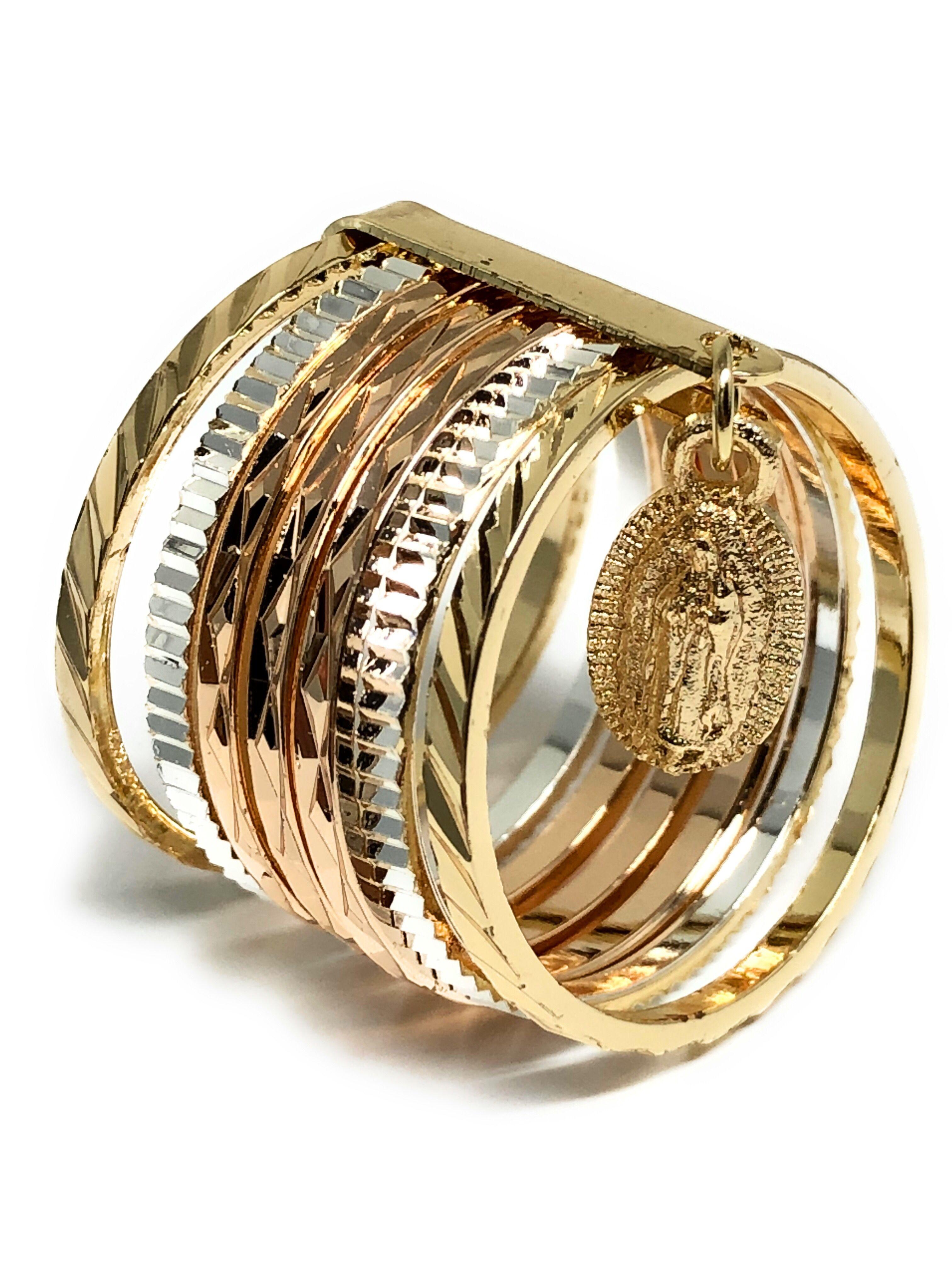 Boutique en ligne 57e67 1dd47 Tri-Color Gold Plated Semanario Virgin Mary Ring Virgen De ...