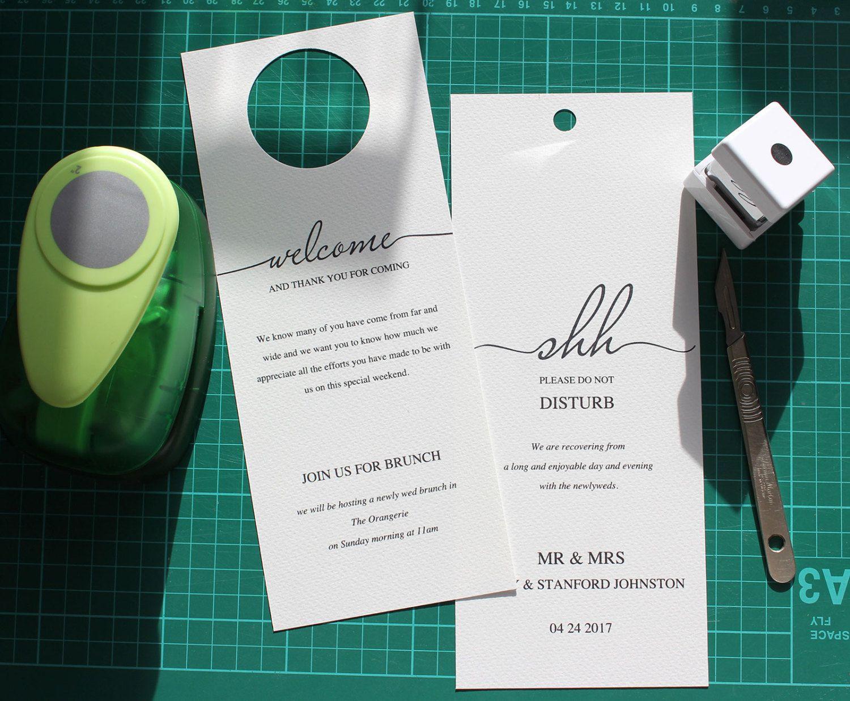 Printable Wedding Door Hanger Shh  Hanger Wedding Hangers And