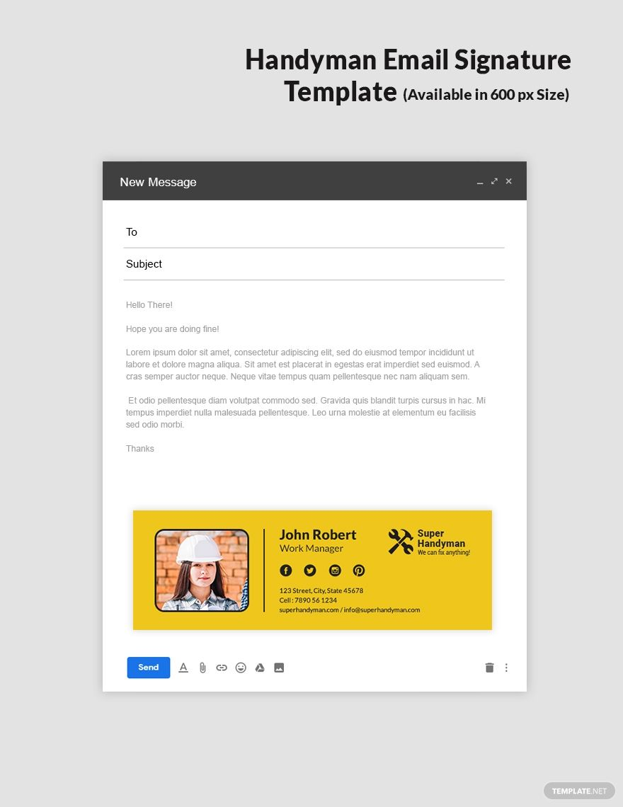 Handyman Email Signature Template Free Outlook Psd Template Net Email Signature Template Email Signature Email Signature Templates