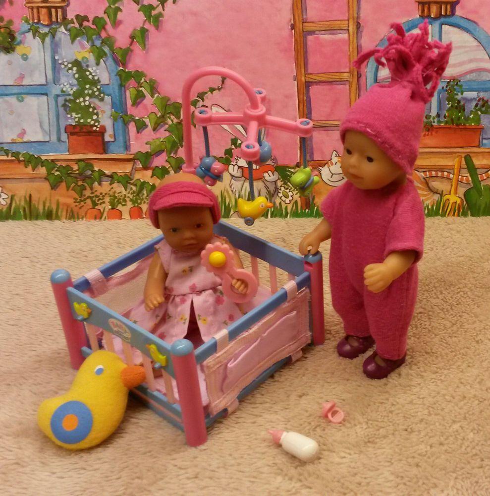 Zapf, 1 Mini Baby Born Puppe, 1 My Mini Baby Born Puppe, Laufstall ...