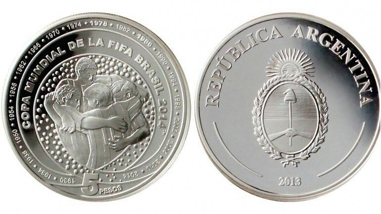 Moneda del mundial Brasil 2014