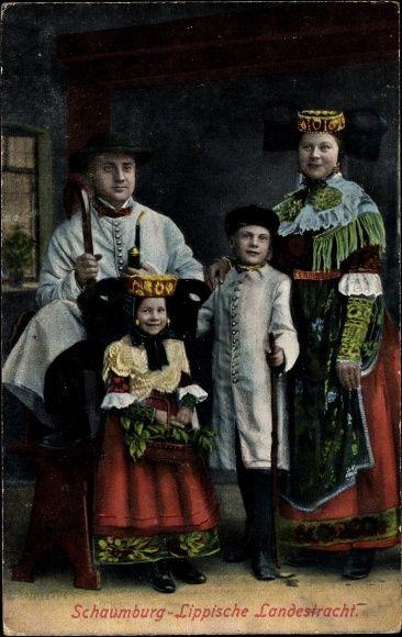 Postcard schaumburg lippische landestracht gruppenfoto kinder explore traditional dresses folk dance and more m4hsunfo