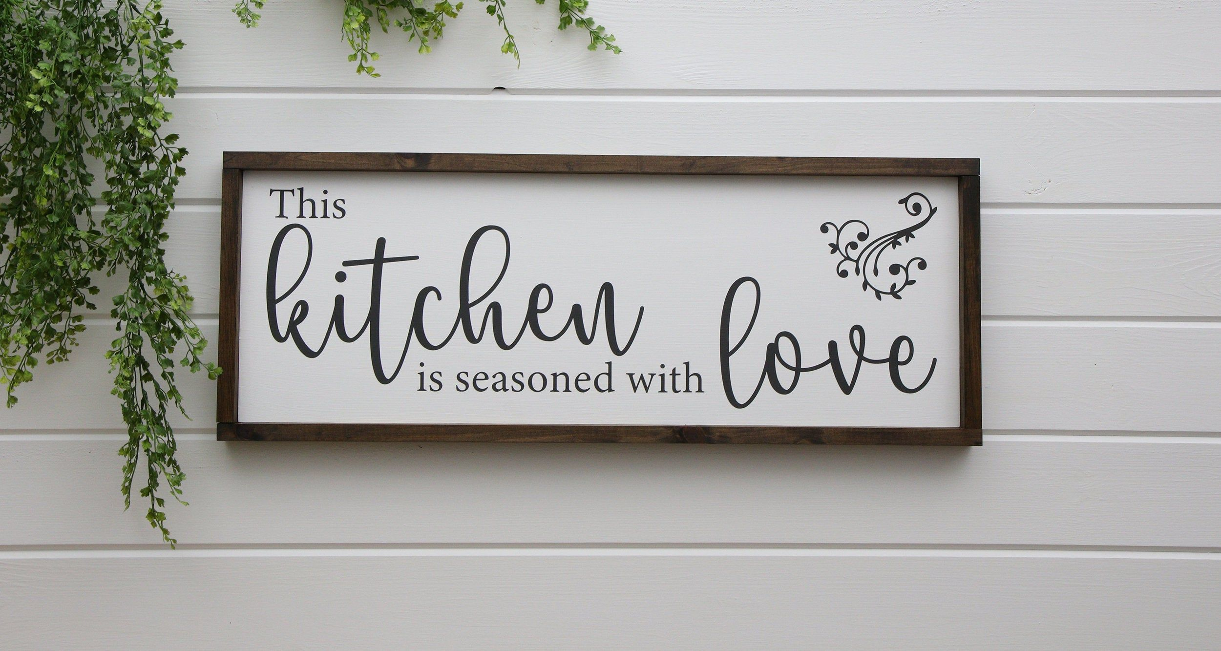 This Kitchen Is Seasoned With Love Wood Sign Farmhouse Image 0
