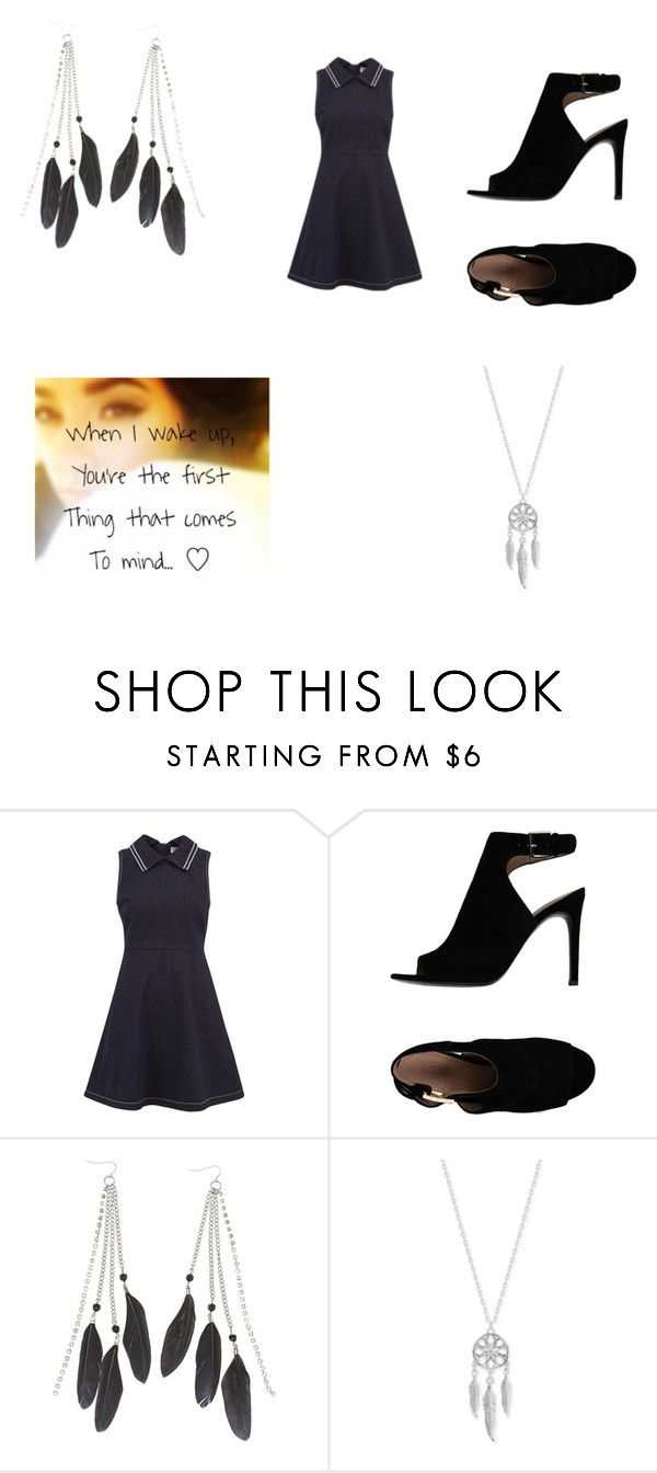 """""""becky swan"""" by sarahgale98 ❤ liked on Polyvore featuring RED Valentino, Tory Burch, Charlotte Russe and Lucky Brand"""