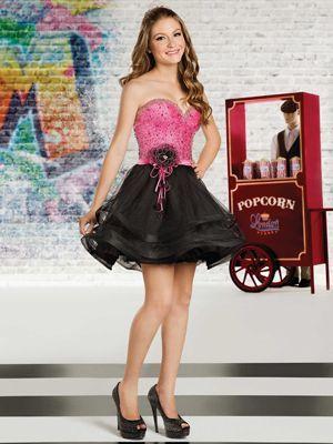 2347be9c00 Vestido de 15 anos curto com saia longa removível  Vestido curto rodado