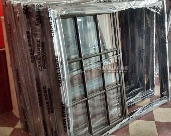 Ventana de aluminio ventanas de aluminio en vidrio entero for Ventanas de aluminio ofertas precio