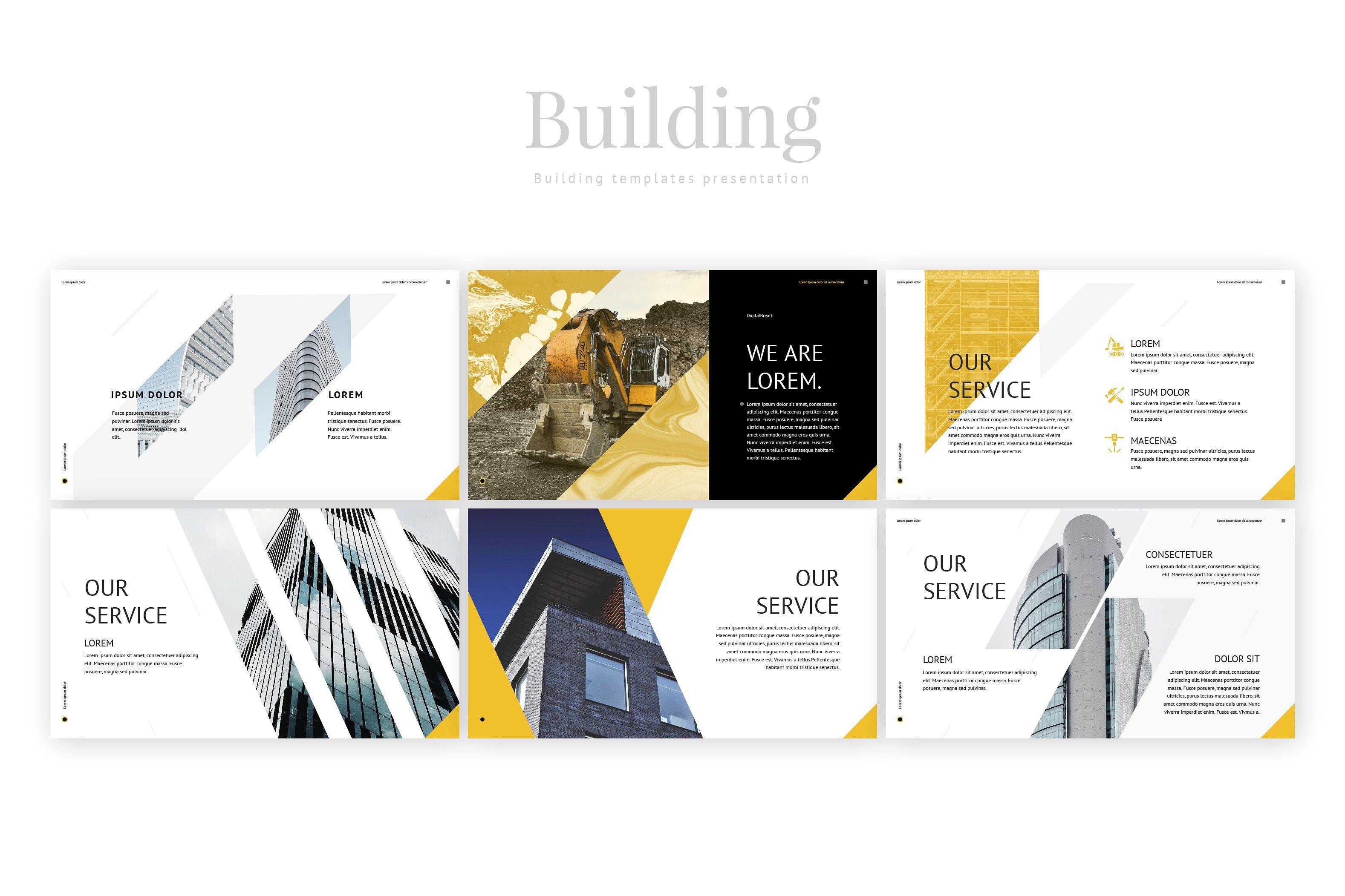 Building Template Presentation Ppt Templates Presentation