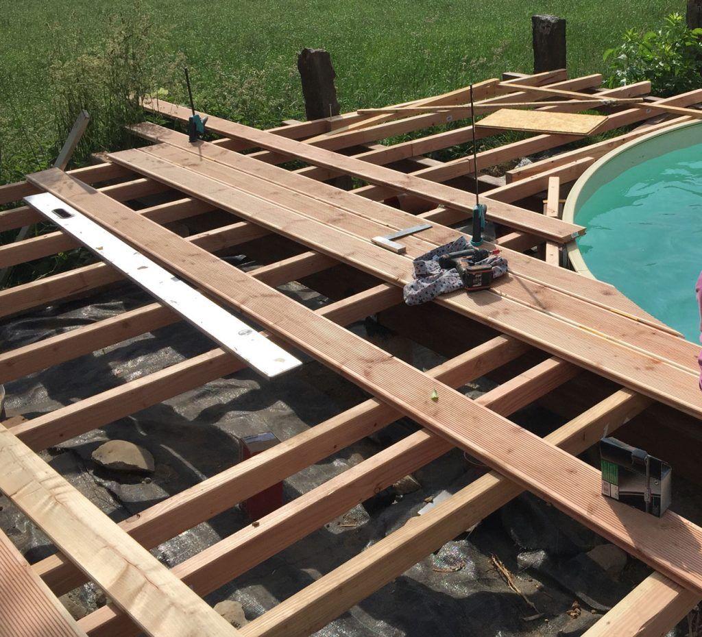 holzterrassebauenampool in 2020 Holz terrasse bauen