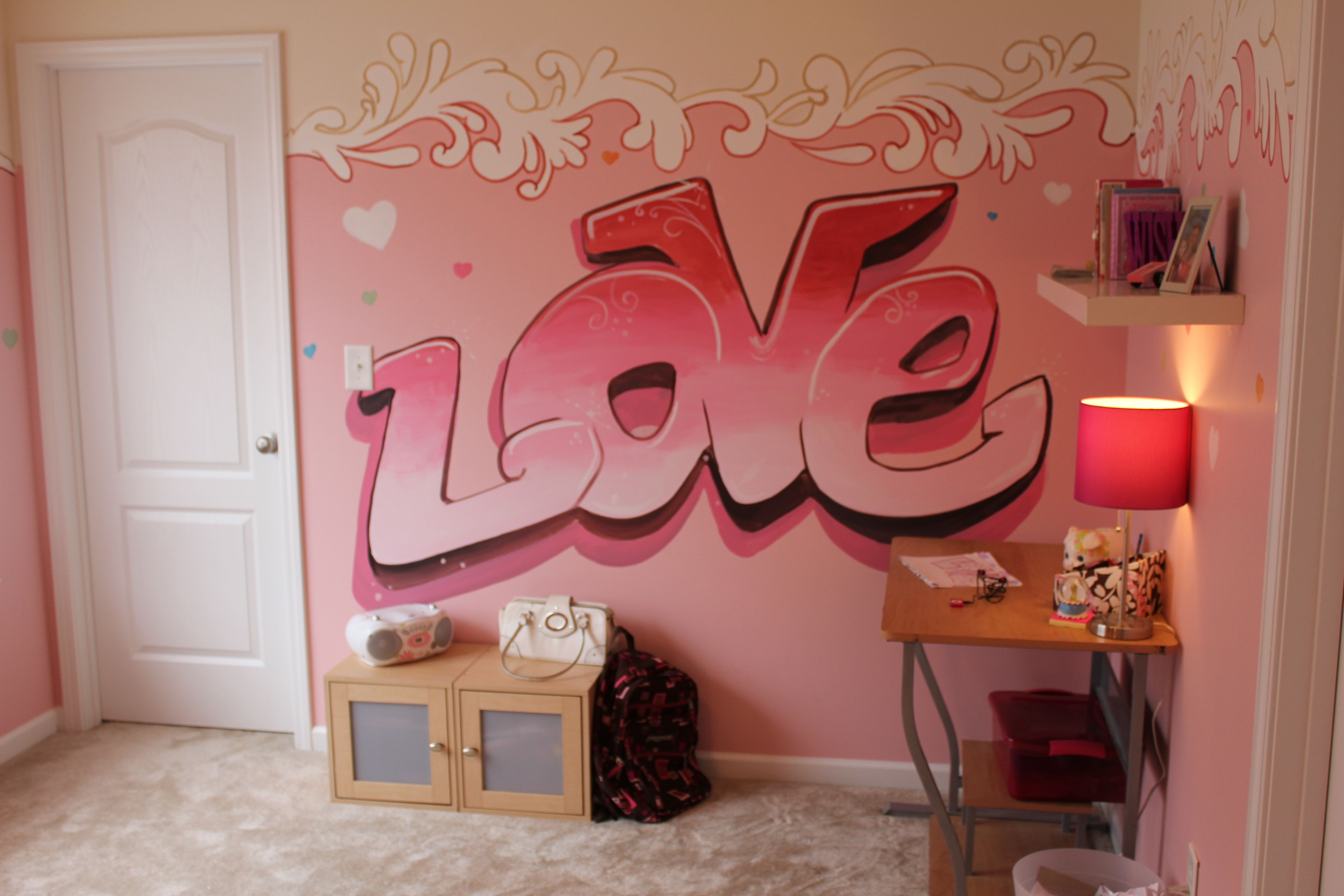 Wall paint colors for girls bedroom - Graffiti Murals For Bedrooms Girls Girls Bedroom Ideas 5184x3456 Decorative Paint Designs Green Apple