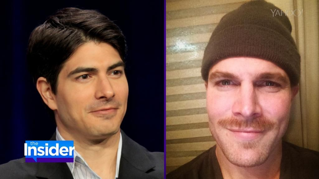.@amellywood is committed to #Movember and his @CW_Arrow cast mate @BrandonJRouth has his back http://yhoo.it/1xr2pmD
