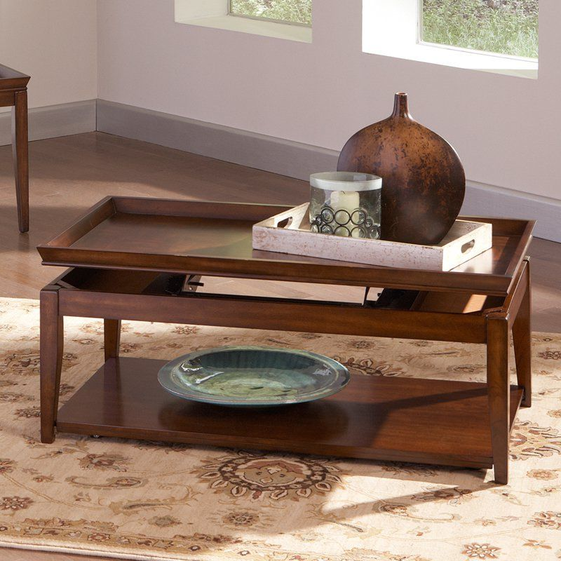 Steve Silver Clemson Rectangle Cherry Wood Lift Top Coffee Table
