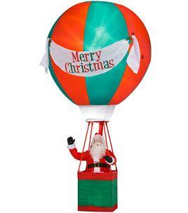 Santa In Hot Air Balloon Inflatable