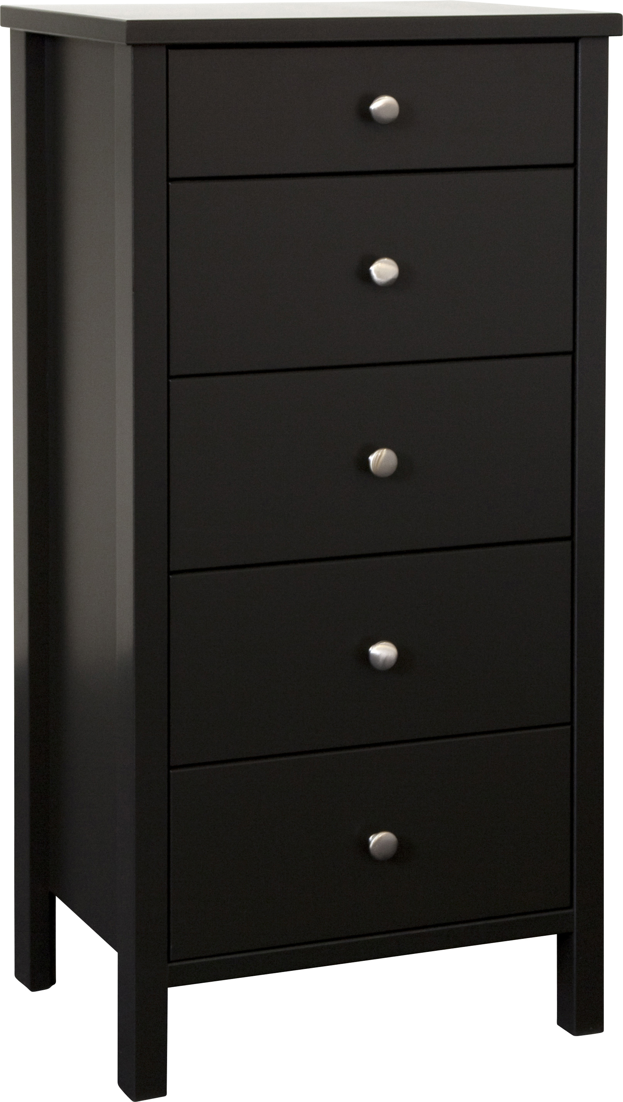 Shaker Style 5 Drawer Tall Narrow Chest
