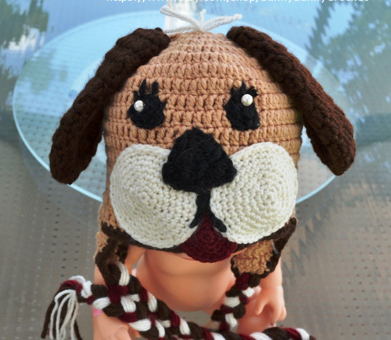 Newborn crochet pattern crochet hat pattern baby crochet pattern crochet pattern baby newborn hat pattern crochet puppy hat baby boy hat dog hat beanie puppy bankloansurffo Gallery