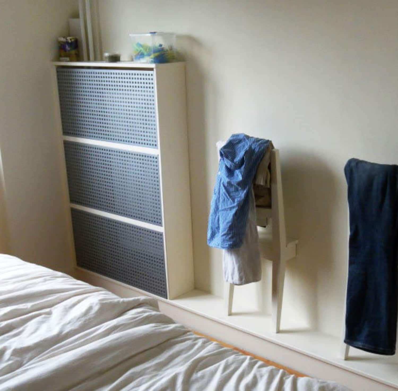 Diy a radiator cover from ikea antonius shoe racks