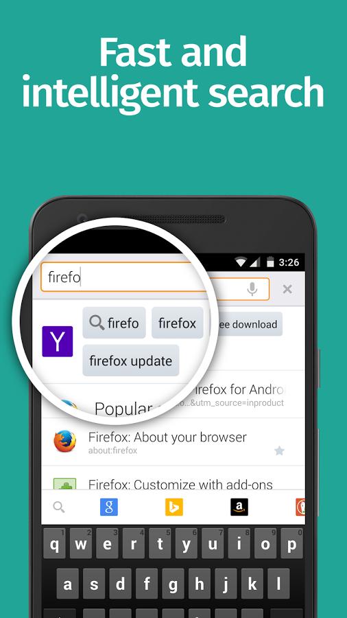 برنامج فايرفوكس للاندرويد Firefox Android باصداره الجديد