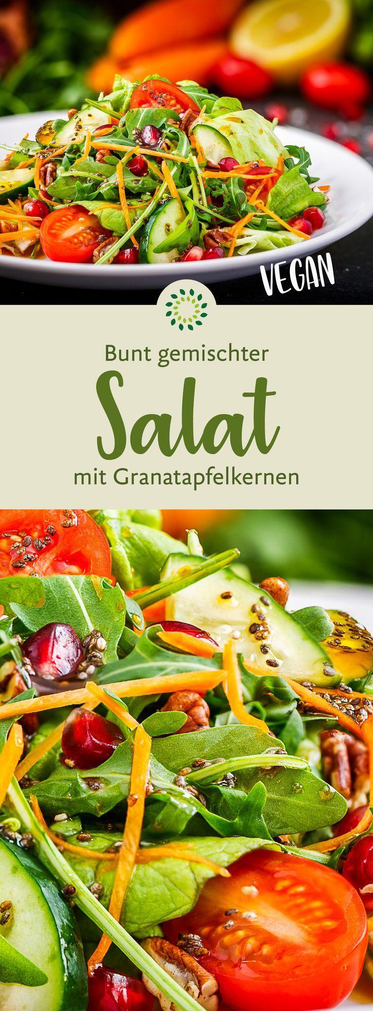 Bunter Salat mit Granatapfelkernen - basisch