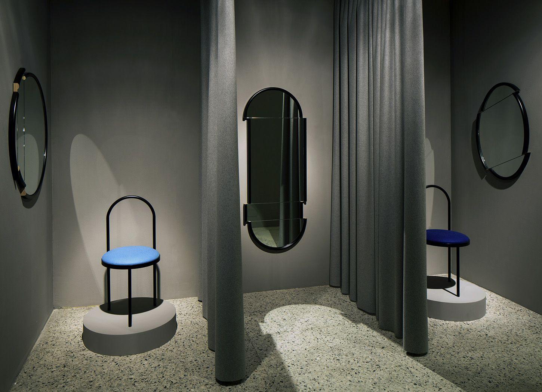 #LeeBroom #TheDepartmentStore #FittingRooms | Split Mirrors & Altar Chairs