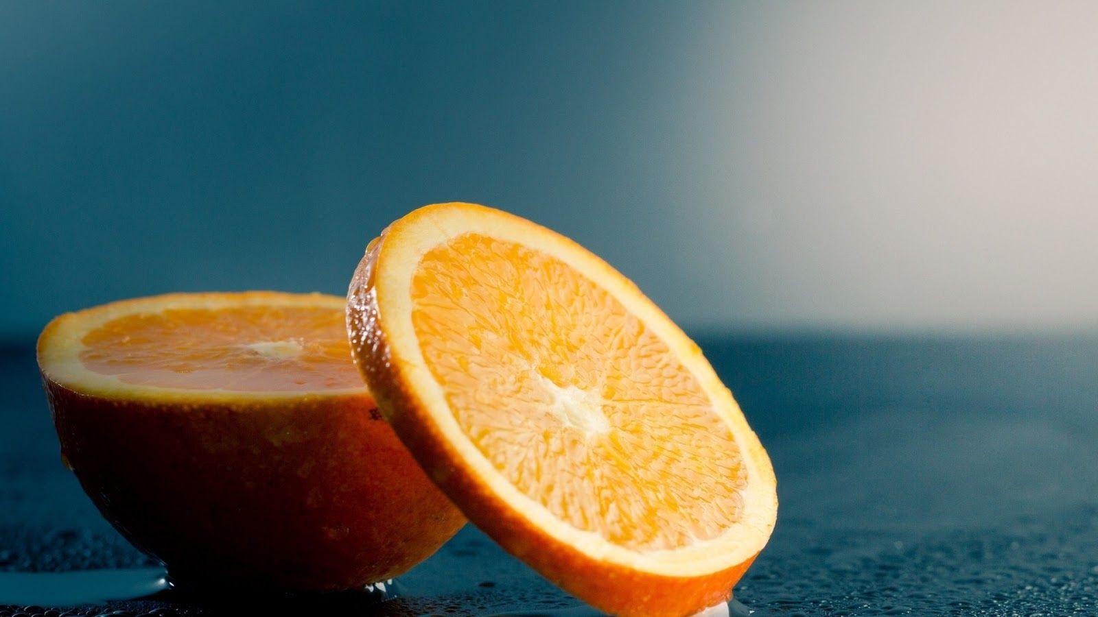 Desktop Cool Hd Wall Papers Fruit Wallpaper Orange Water Orange