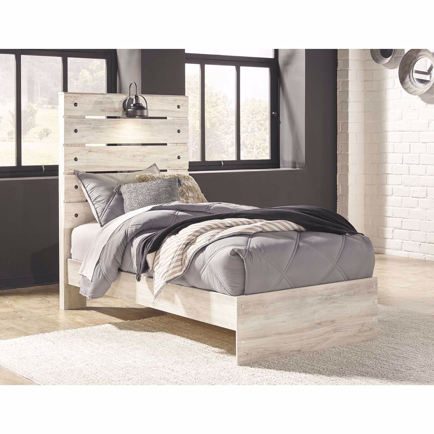 Cambeck Full Panel Bed Panel bed, Twin storage bed