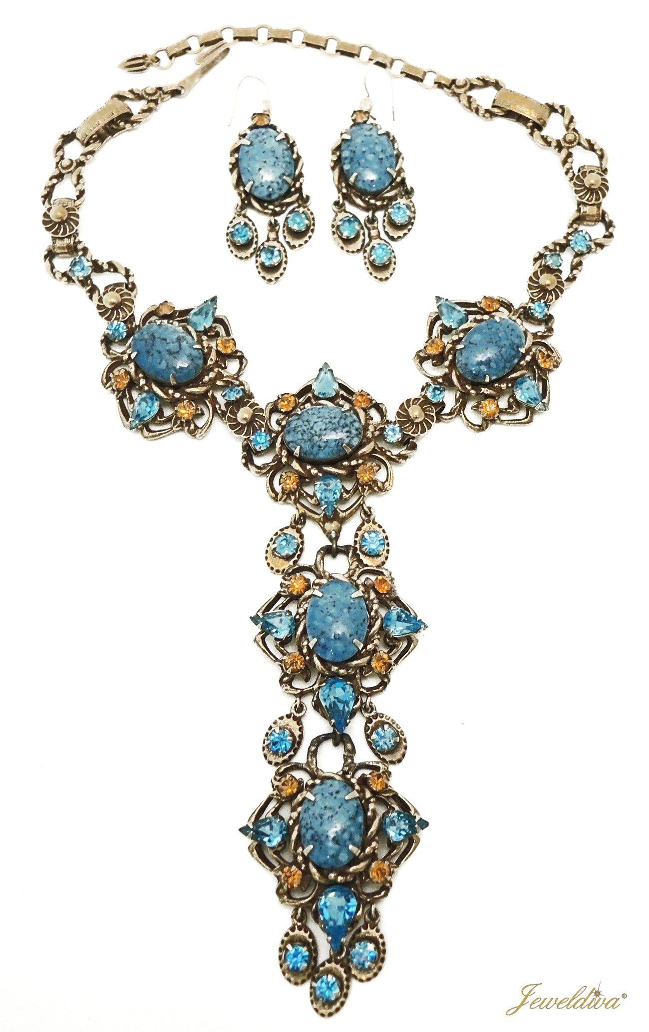 Vintage Signed Christian Dior by Kramer Necklace Earrings
