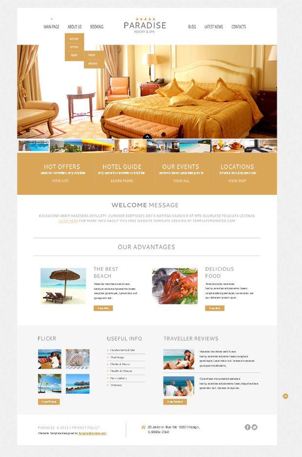 Free WordPress Theme for Hotel | design dreams | Pinterest ...