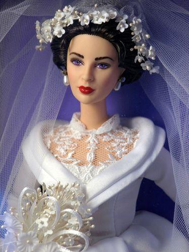 "BARBIE and similar 11.5/"" dolls Elizabeth Taylor Father of Bride Wedding pattern"