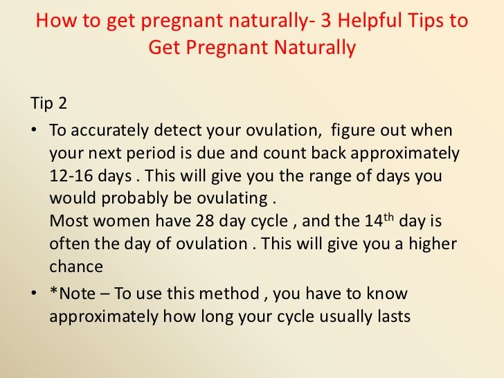 How To Get Pregnant Naturally 3 Helpful Tips Slides