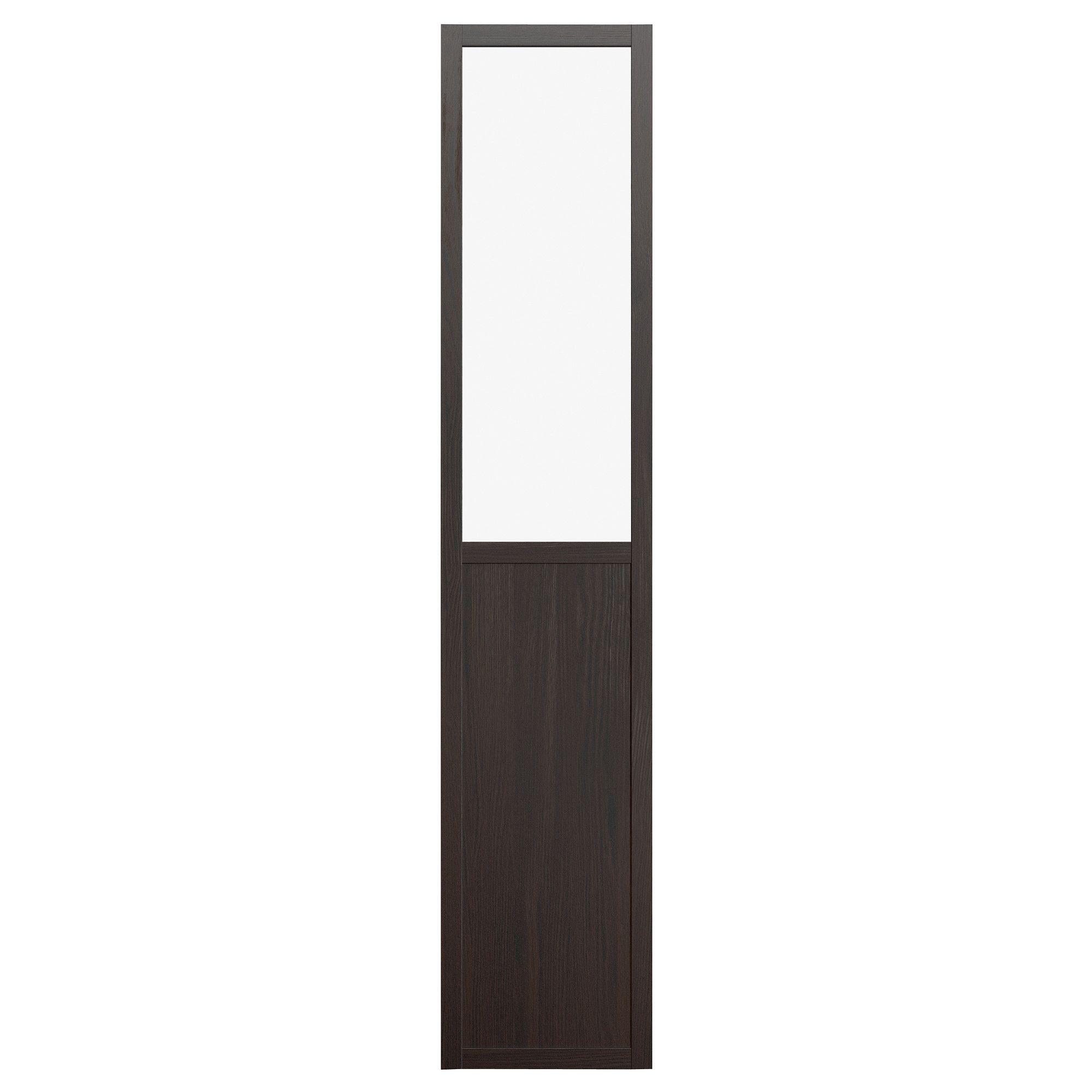 Billy Olsbo Panelglass Door  Black Brown  Ikea