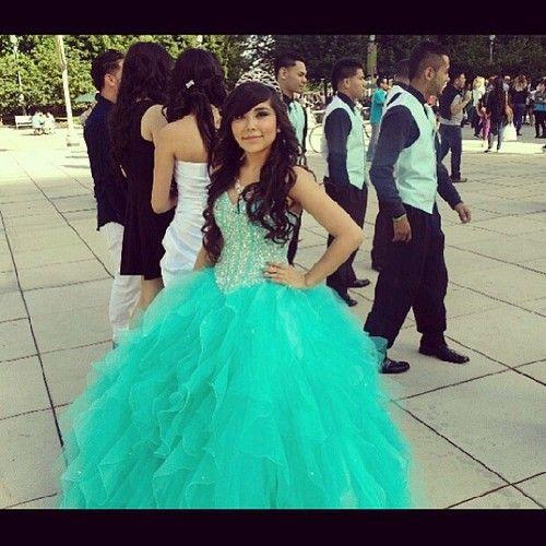 tiffany blue quinceañera dress tumblr | quince #quinceañera ...
