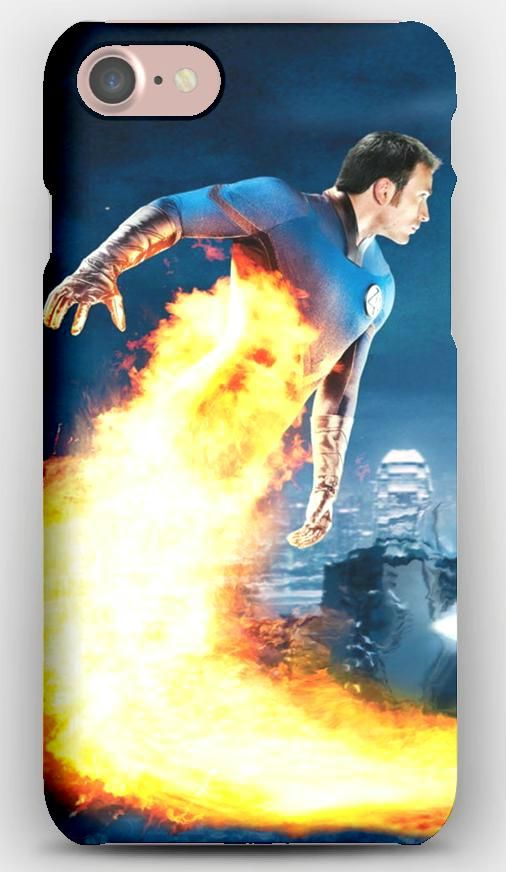 iPhone 7 Case Fantastic 4, Rise of the silver surfer, Chris evans, Human torch, Johnny storm, Silver surfer