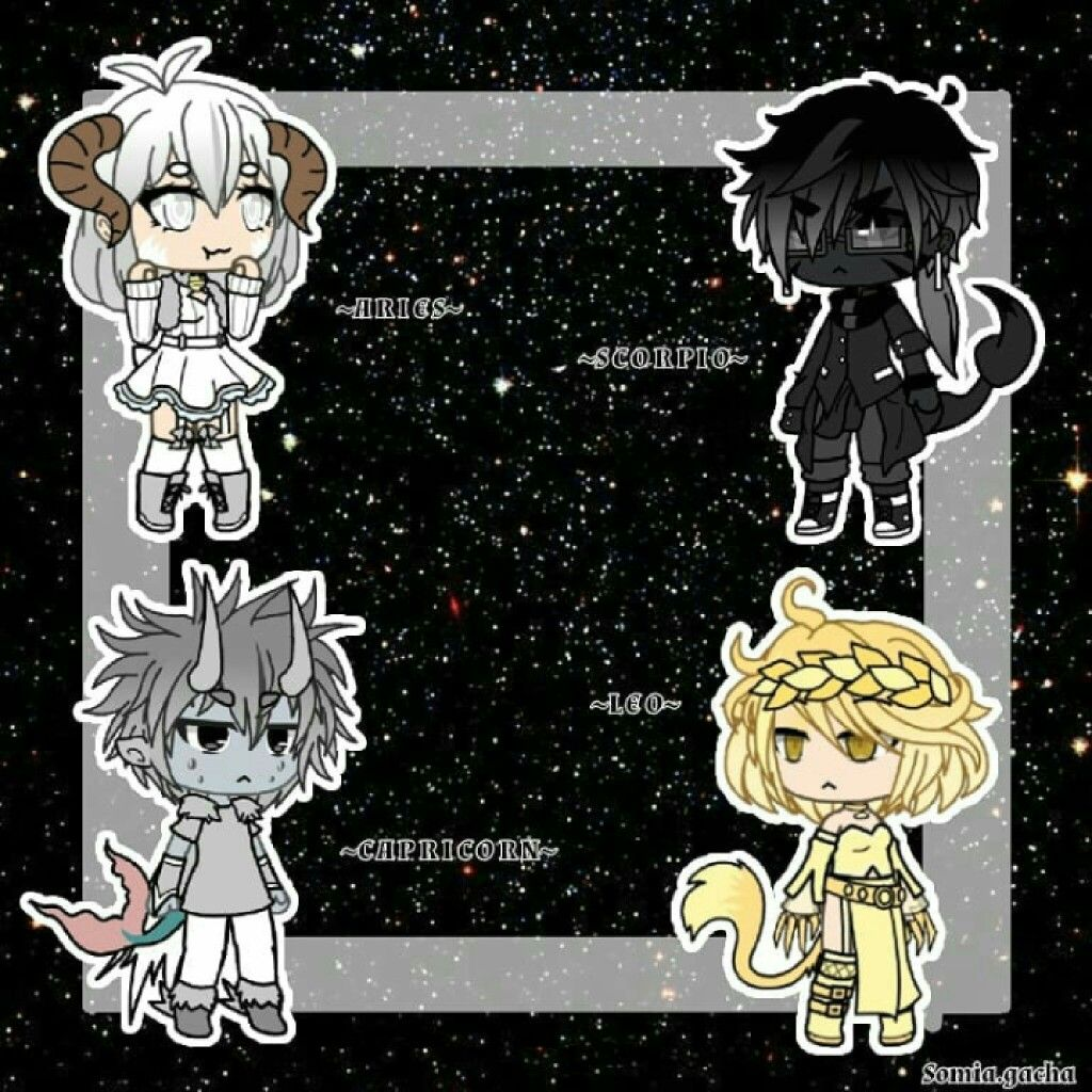 Zodiac Signs Credit To Somia Gacha Instagram Cute Anime Chibi Anime Outfits Character Outfits