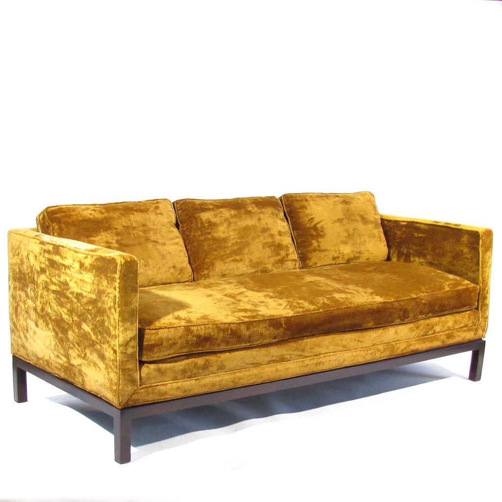 Mid Cenury Gold Velvet Sofa By Century Gold Sofa Vintage Sofa Sofas