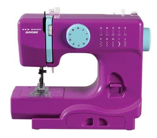 máquina portátil de coser janome púrpura thunder