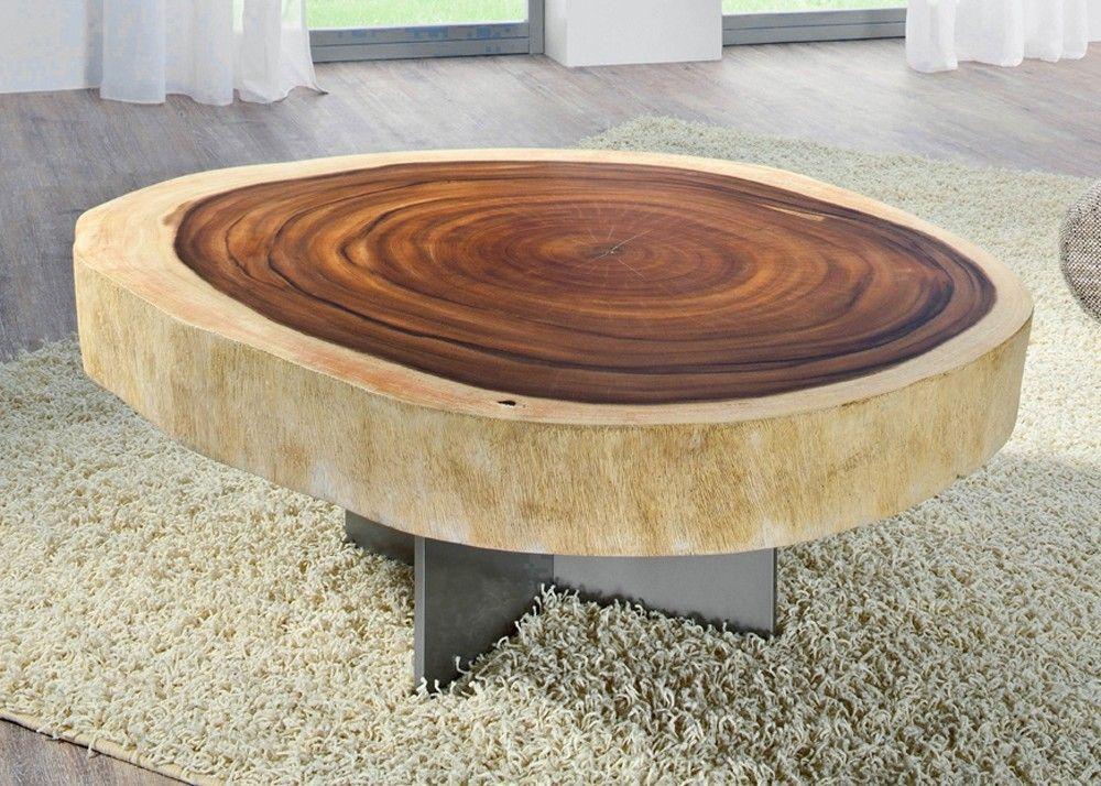 Wohnzimmertisch Baumscheibe ~ Couchtisch aus einer massiven baumscheibe vom akazienbaum