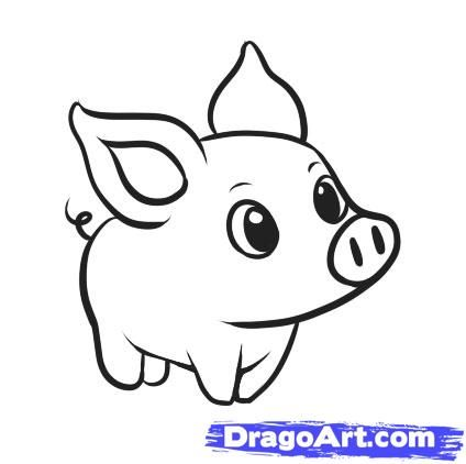 A Drawing Of A Pig