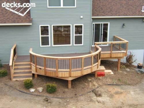 Shows How Easily A Round Deck Could Be Done. I Like This Design, But We  Should Put The Stairs On The Right