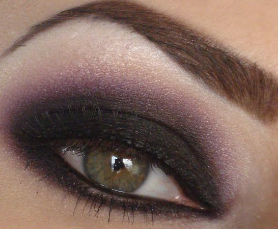 One Of My Personal Favorite Looks Purple And Black Smokey Eye