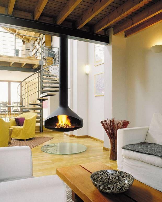 cheminee-design-ovale-suspendue-ergofocus | salon | Pinterest ...
