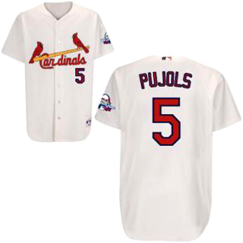 newest d9e0e d53dc Albert Pujols Authentic Jersey, White #5 St.Louis Cardinals ...