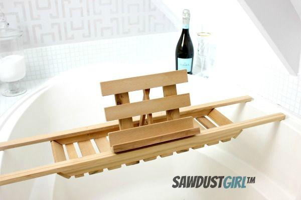 Bath Caddy with Book Holder | Bathroom | Pinterest | Bath caddy ...