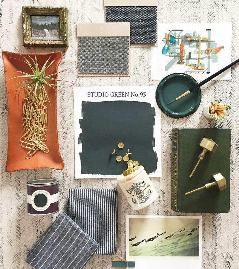 studio green farrow ball pinterest farrow ball green color schemes and studio. Black Bedroom Furniture Sets. Home Design Ideas