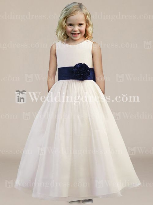 b7c828269a0 Formal Ball Gown Flower Girl Dress with Sash and Bow Fl192