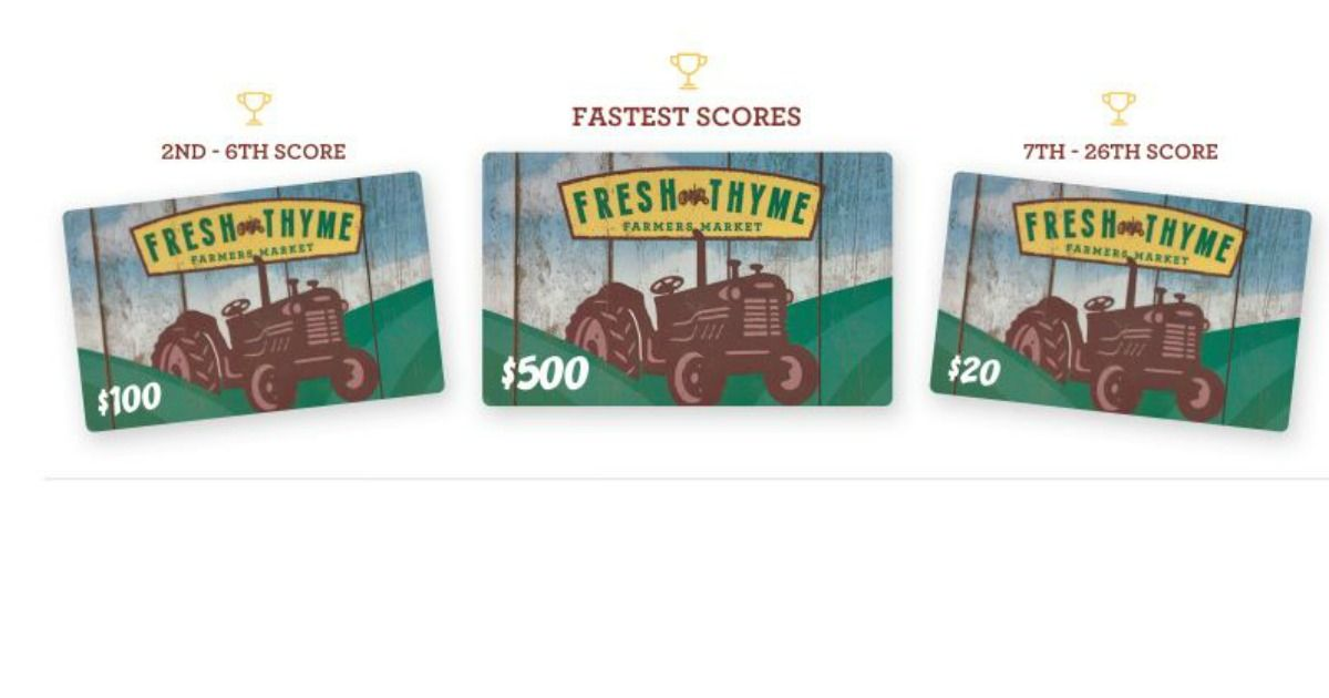 Fresh thymes gift cards are up for grabs fresh thyme