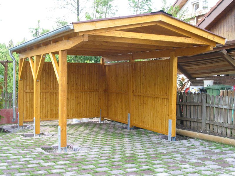 Small carport storage options google search home for Carport fence ideas