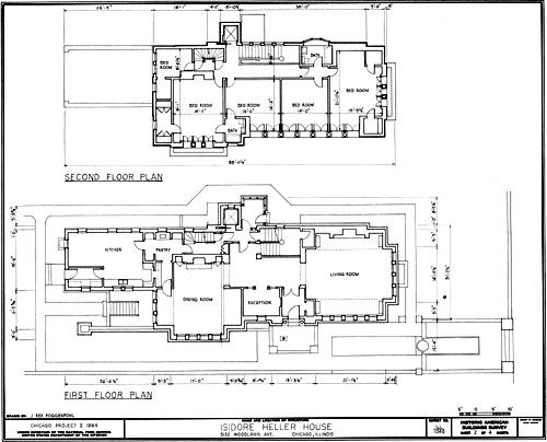 The Isidore Heller House 1896 Frank Lloyd Wright Frank Lloyd Wright Design Frank Lloyd Wright House Floor Plans