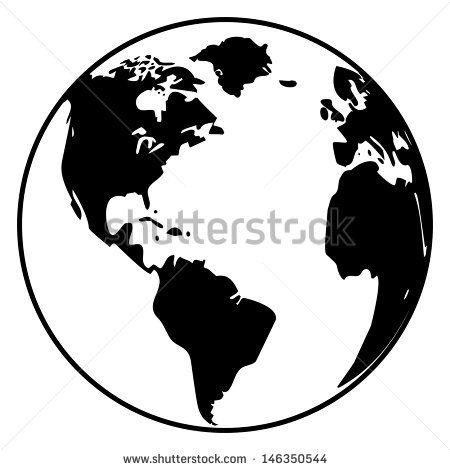 35+ Globe Clipart Vector Black And White